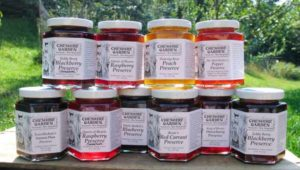 Jars of Cheshire Farms preserves