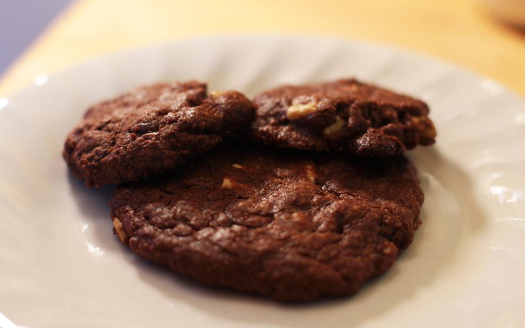Plate of Triple Chocolate Cookies