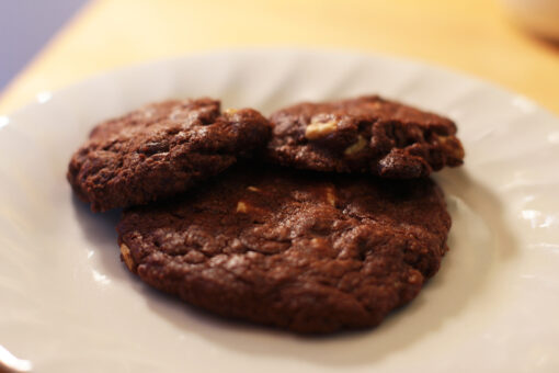 Plate of Triple Chocolate Cookies